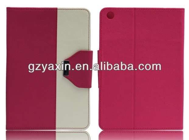 leather case stand cover for ipad mini,genuine leather case for ipad mini