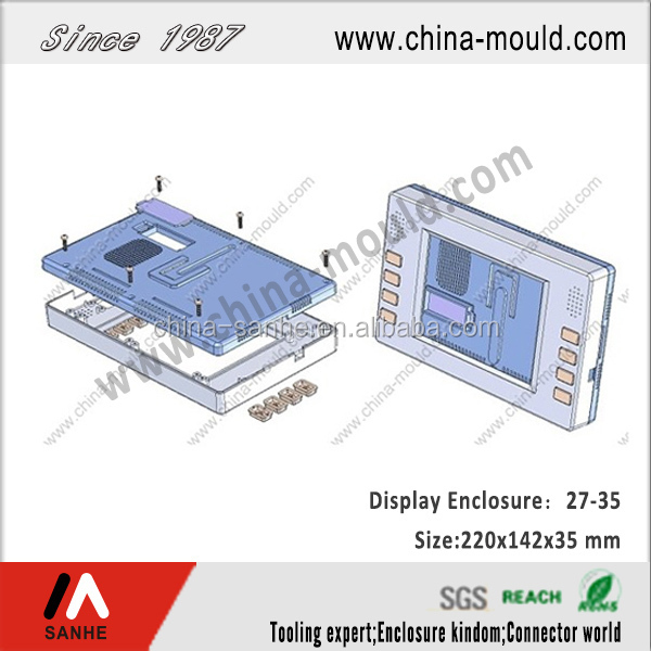 plastic LCD display enclosure for wall mounting