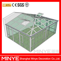 new design aluminum sunroom house factory design