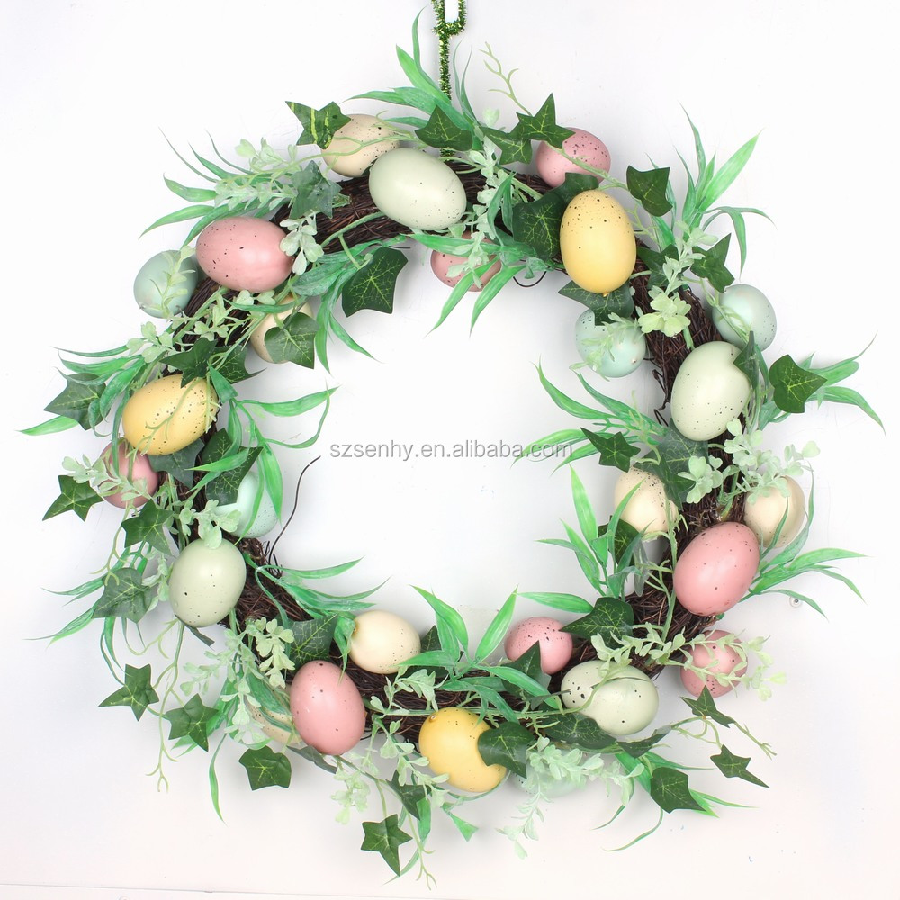 hot selling easter egg wreath decorations