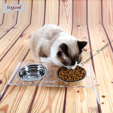 High quality Thick Stainless steel cat bowl small dog puppy food feeder