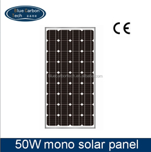 Home use Mono-crystalline Module 50w PV Solar Panel