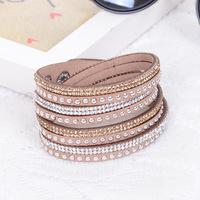 fashion slake crystal shiny bling rhinestone wrap wristband bracelet
