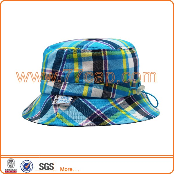 baby plaid bucket hat