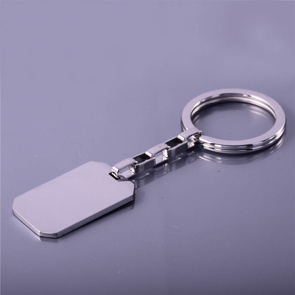 High Polished Custom Different Design Steel Blank Key Chains