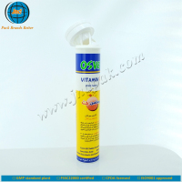 High quality plastic effervescent tablet tube packaging with spring cover and unrivalled offset printing made in GMP plant