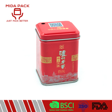 New design red color thin storage metal tin boxes for sale