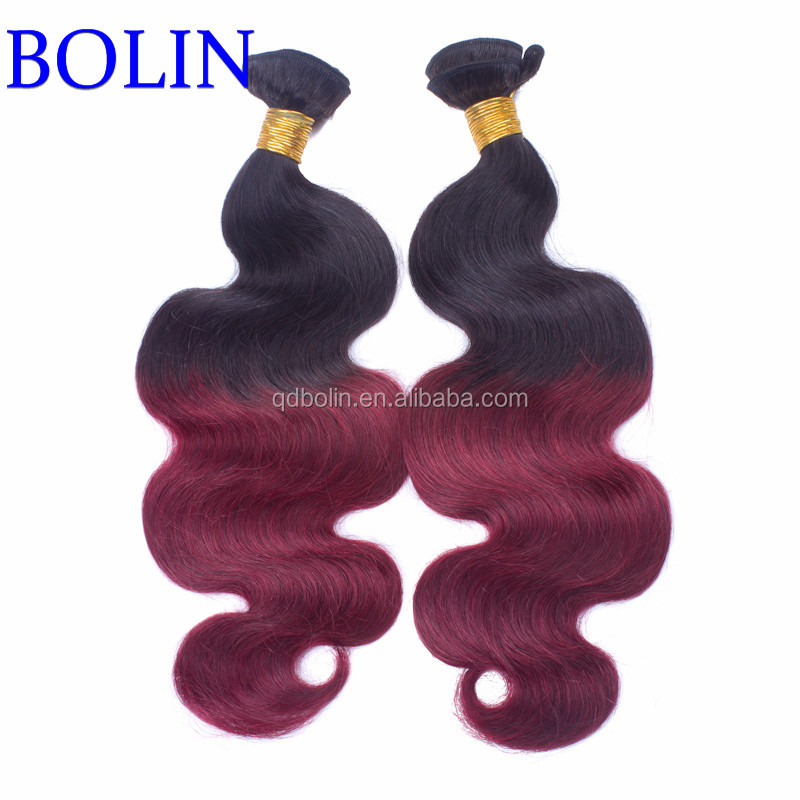 factory wholesale price fashion brazilian body wave ombre color natural looking 4x4 top closure