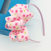 Fashion Colorful Fruit Print Ribbon Bow
