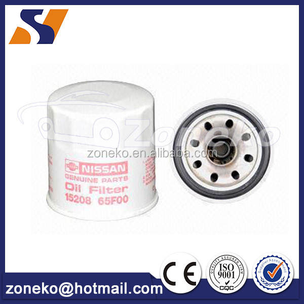 Factory directly supply 15208-65F0A Suit For Nissan Automotive oil filter