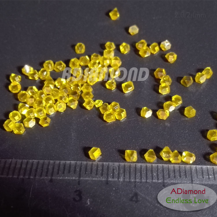hpht rough diamond yellow Gem stone mono synthetic diamond uncut for jewelry