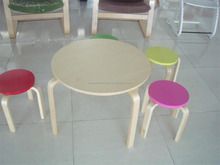 Wholesale Colored Children Wood Round Small Stitting Stools