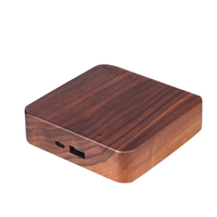 High Capacity Powerbank Wood Portable Power