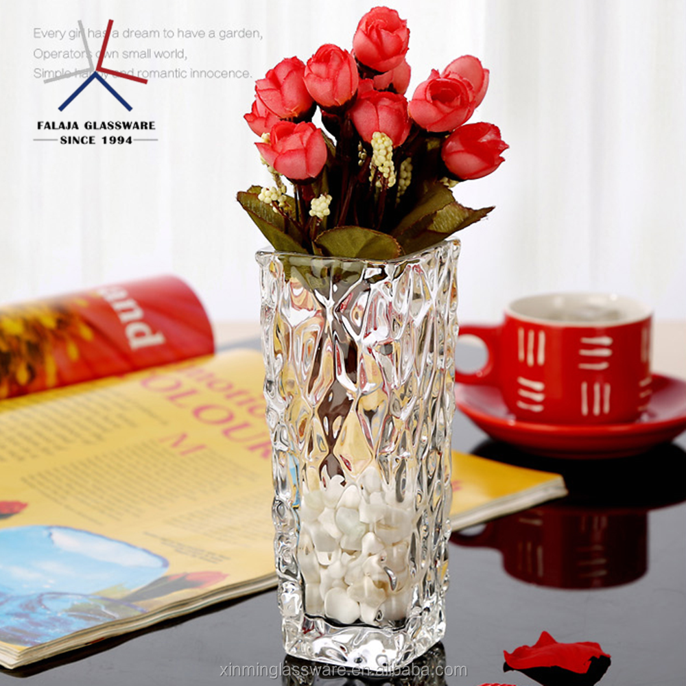 FALAJA wholesale cheap tall cylinder wedding flower glass vase for home decoration