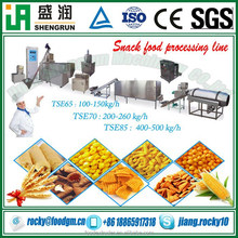 Sweet corn flour puffed snack food processing equipment