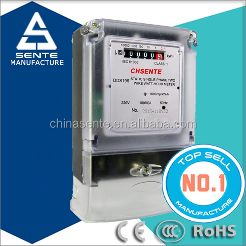 DDS196 Single-phase electric analog types of electricity meters kwh digital smart meter cover Bangladesh