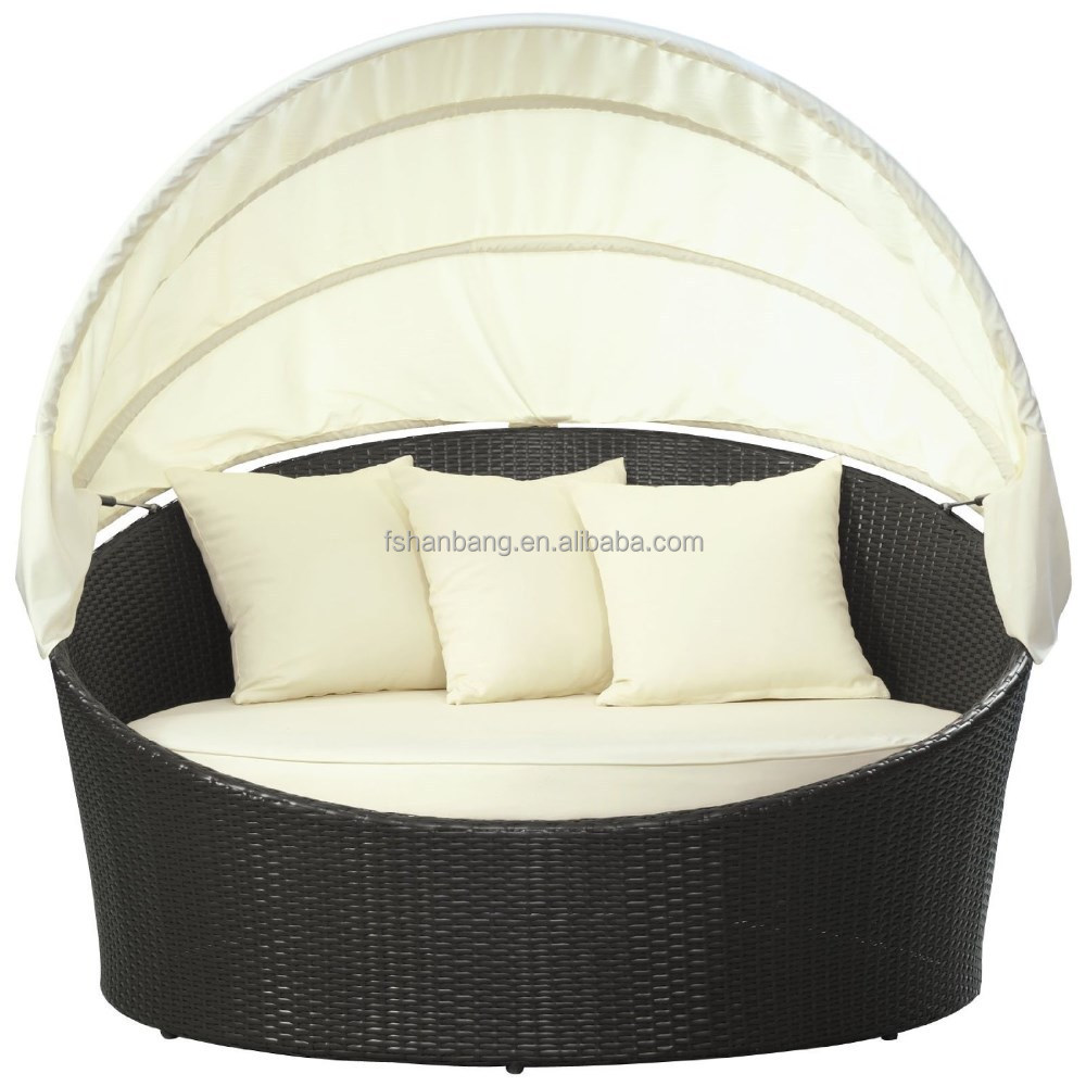 Barcelona Outdoor wicker rattan daybed round with canopy