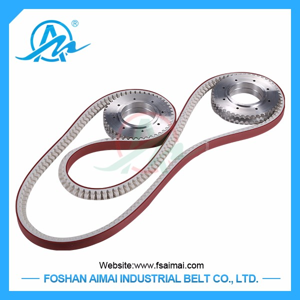 China manufacturer rubber flat drive timing belts and pulleys
