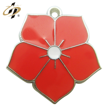 Wholesale cheap custom flower eternal wedding souvenir metal charm pendants