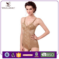 Factory Direct Sale Body Slim Shaper Lace See Through Leather Catsuit Bodysuit