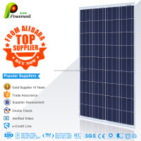 Powerwell Solar 155w polycrystalline solar modules high efficiency fiexible solar panel china price with all certificatse