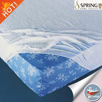 Polyester / Cotton Material Hypoallergenic Waterproof Mattress Protector - Vinyl Free