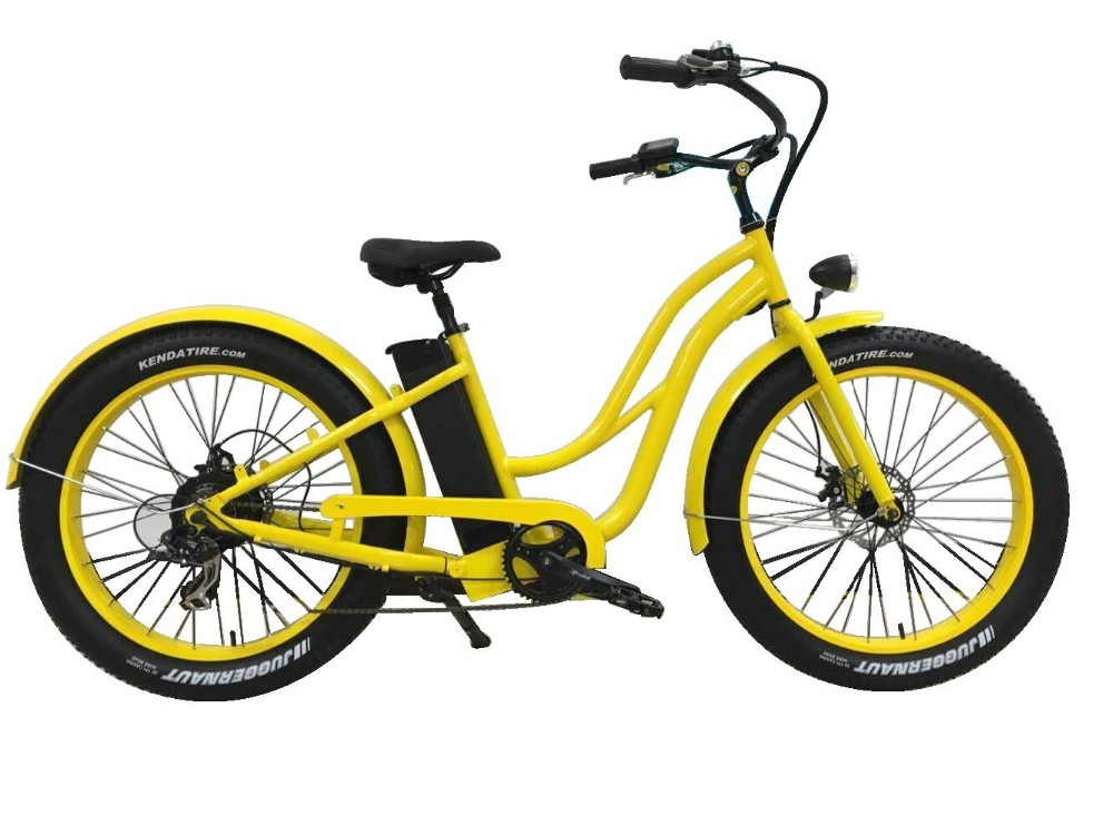 26inch 48v Fat Tire Electric Bicycle 500w Beach Cruiser Electric Bicycle  Bu