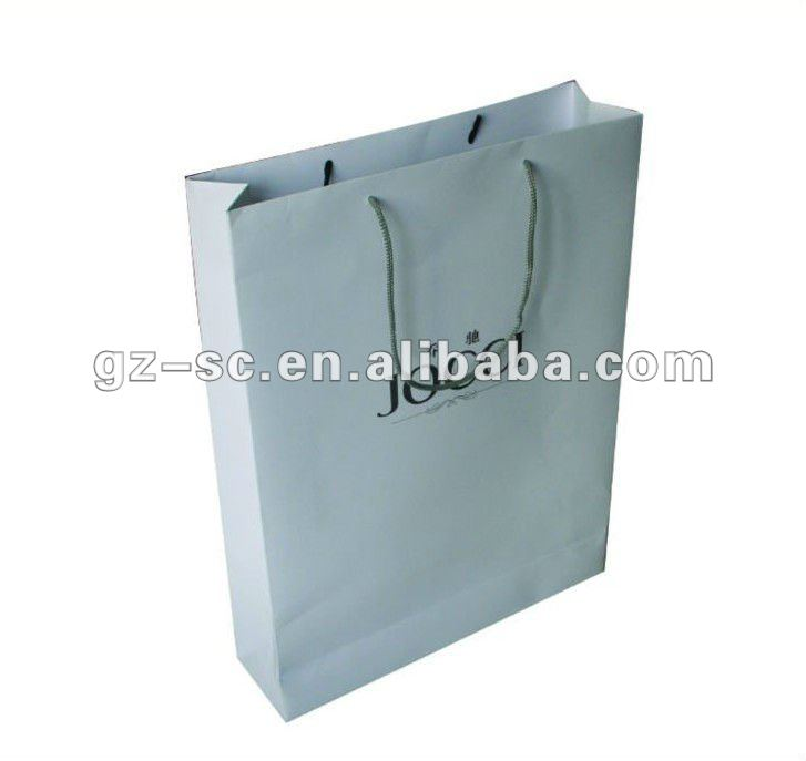 Paper carrier bags for shopping