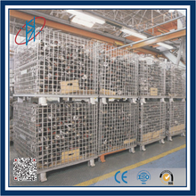 Heavy Warehouse Folding metal storage cage