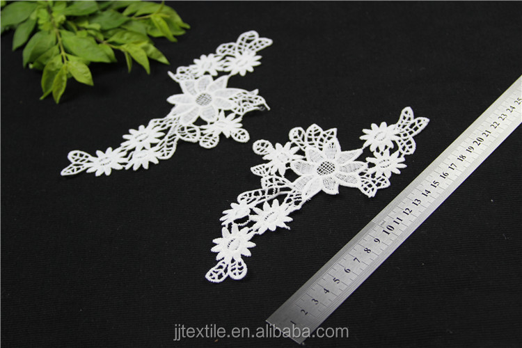 beautiful design polyester embroidered collar lace applique