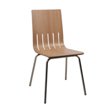 Dining restaurant furniture stacking wood seat cafeteria plywood chair