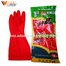 Durable Colorful Long sleeve Household Rubber Gloves/Long Cleaning Household Latex Gloves