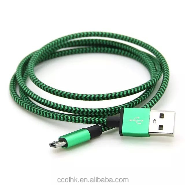 3FT 6FT 10FT Aluminium Braided Charge Data Cable for Samsung HTC Huawei Xiaomei