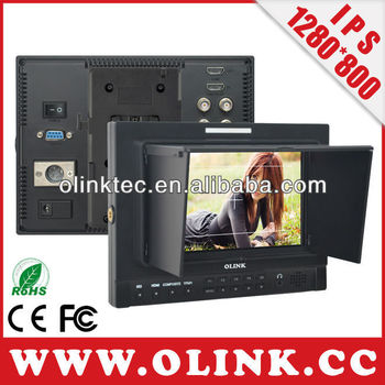 "Olink-FM1D/S/O: 7"" IPS 1280*800 3G/HD-SDI Video Monitor with HMDI, YPbPr, AV Inputs"