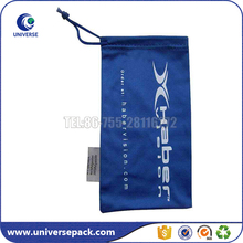 Durable custom printed microfiber drawstring camera bag