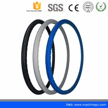 PU foam wheel filled flat free solid tire for bicycle wheelchairs