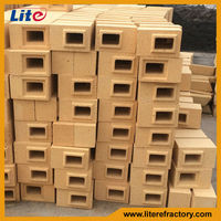 manufacture top quality good thermal spalling resistance high alumina brick for glass melting furnace