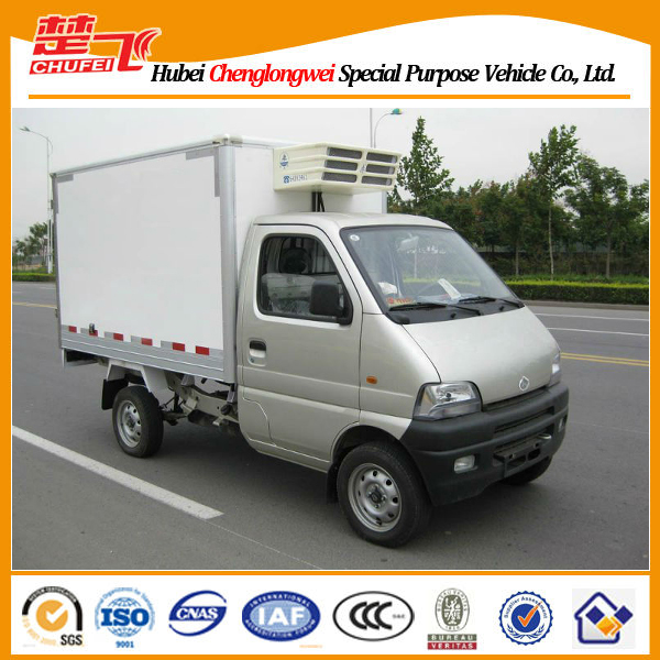Changan 4*2 gasoline engine mini freezer cargo van
