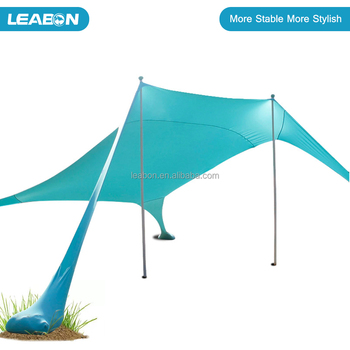 Summer Hot Sale Microfiber Top Quality Stretch UV Proof Sun Shade Beach Lycra Canopy Tent