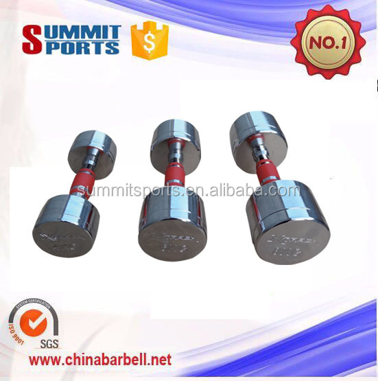 Wholesale Weight lifting chromed dumbbells set with grip dumbbell