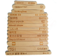 Hot stamp recycled nature ice-cream spoons in bundle packing