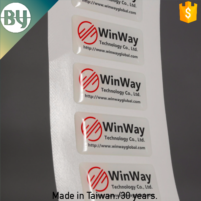 New print label custom clear domed labels epoxy label