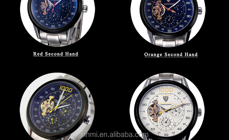 Top Brand Men Watch Automatic Mechanical Watches Big Chronograph Clock Mens Wristwatches Military Watches