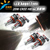 Automobile accessories led car headlights for BMW , H8 20w Canbus led marker angel eyes for BMW E60 E87 E90