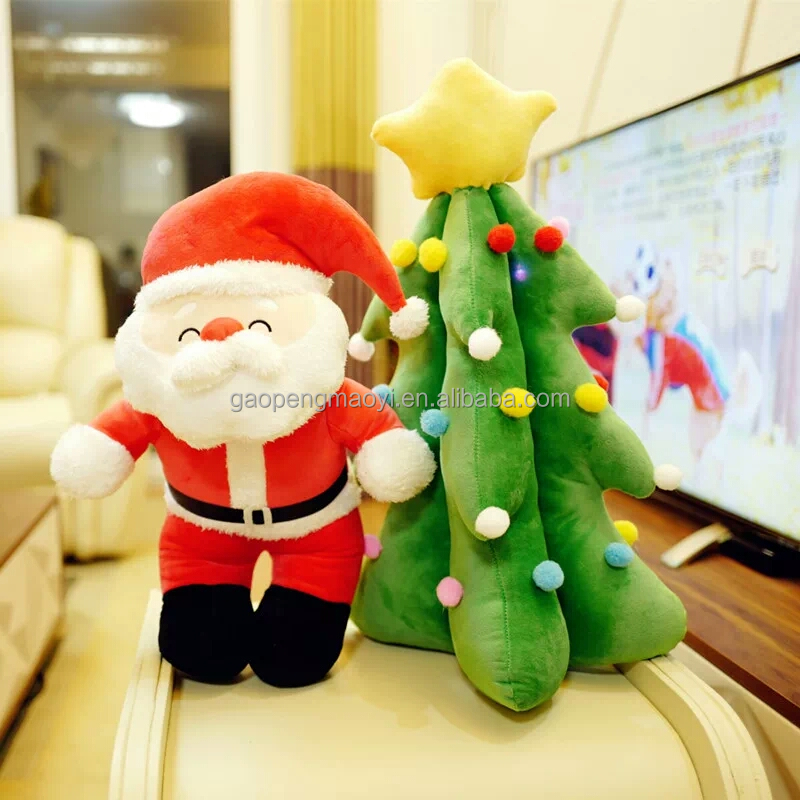 Hot Sale Christmas decorating Toy Sharing Christmas Tree Plush Toys with Lights & Singing