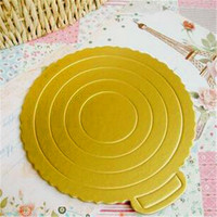 Fancy Design Glossy Gift Paper die cut Cake Boards/Fashion cake tray mill