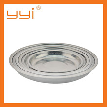 16cm-28cm Cheap stainless steel food round tray/plate/dish
