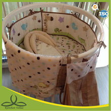 36 years factory Yuhua round crib bedding, embroidery baby bedding set, baby cot set