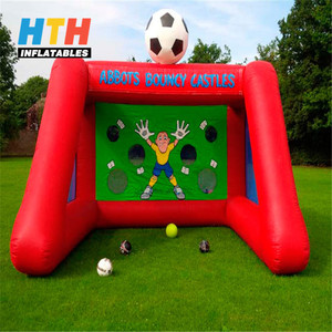 New arrive outdoor football shooting game inflatable soccer carnival game for adults