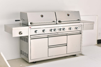 CBU-62I1-DH-A full stainless steel BBQ gas grill with double hood and infrared burner with special good quality